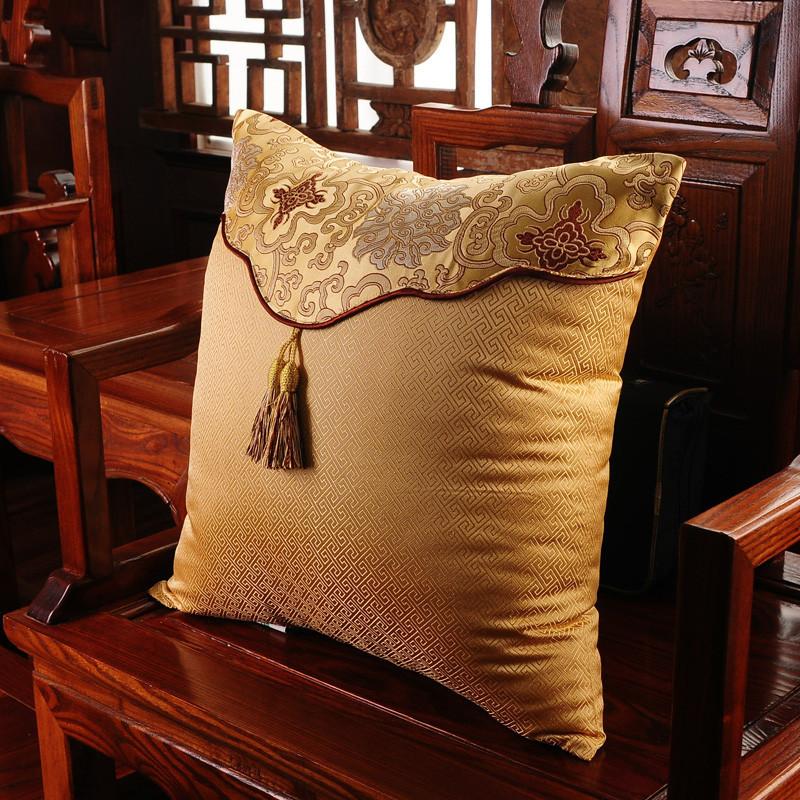 中式抱枕沙发靠垫办公室腰枕靠背汽车护腰抱枕套靠枕