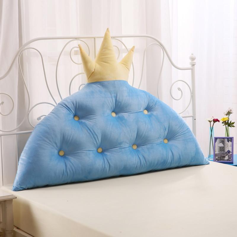 韩式皇冠公主房床头靠垫靠枕儿童韩版大靠背软包