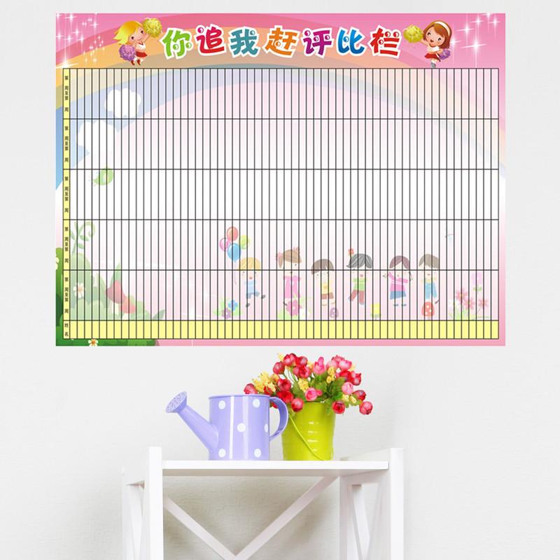 幼儿园姓名贴名字贴小红花表扬贴纸小组评比栏儿童房间墙贴画布置