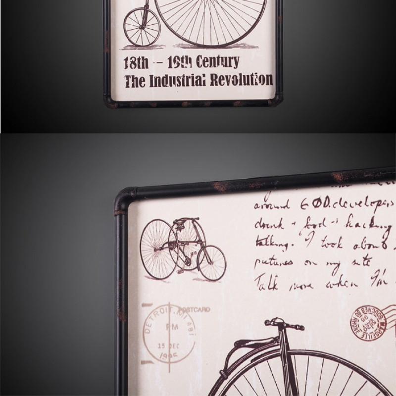 2018美式乡村复古自行车壁挂画墙壁装饰画壁饰酒吧橱窗咖啡厅文艺墙画