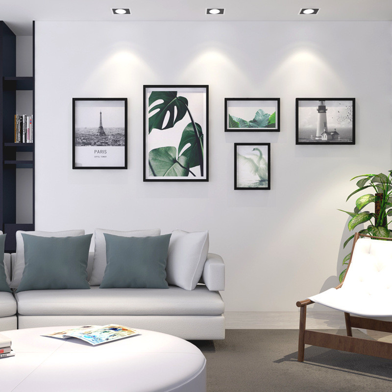 新款2018北欧大墙面客厅照片墙创意组合壁画相框沙发背景画卧室走廊艺图片