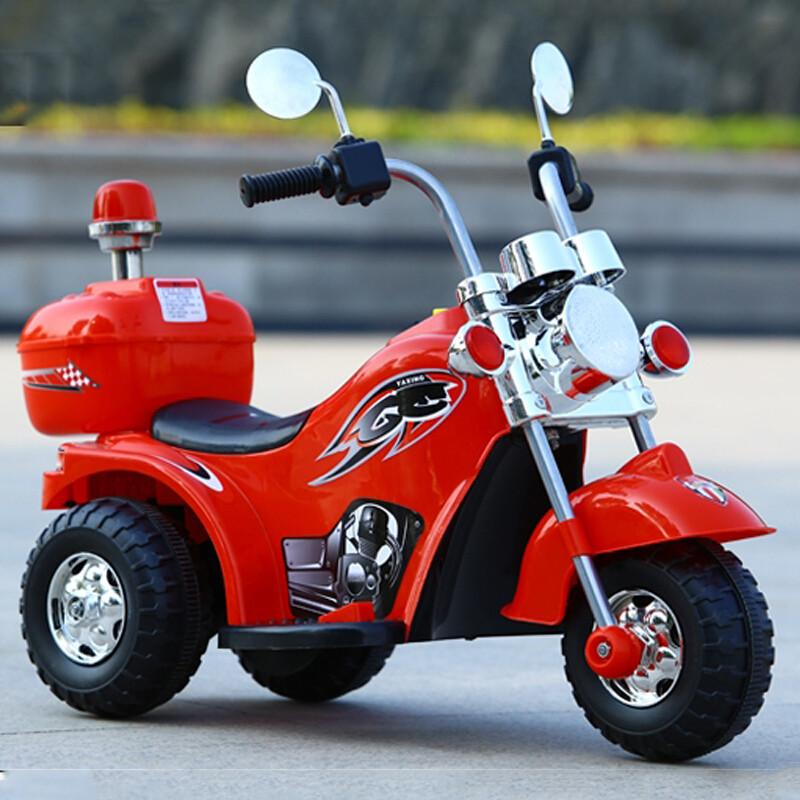 aoxin儿童电动摩托车小孩电动三轮车可坐男女宝宝玩具