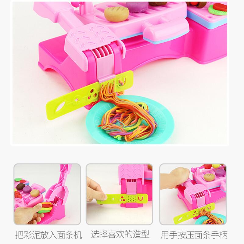 玩具烧烤机橡皮泥模具儿童做饭玩具套装3-6岁 烧烤机(配送5罐彩泥)