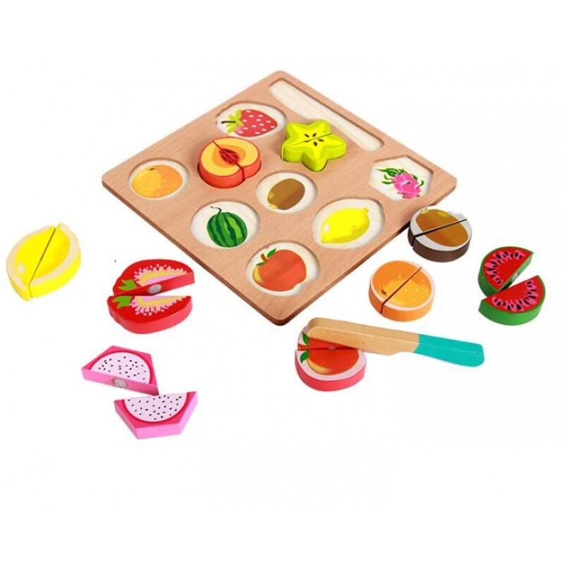 儿童过家家玩具 木制蔬菜水果切切看切切乐游戏角色扮演