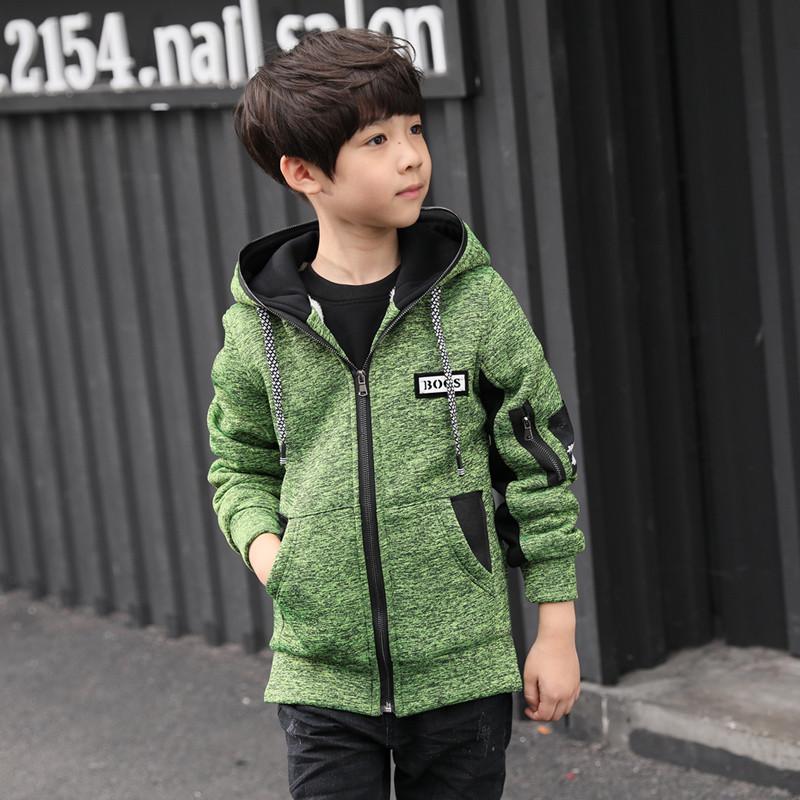 男童外套2017新款韓版兒童時尚潮流風衣中大童童裝加絨加厚秋冬裝圖片