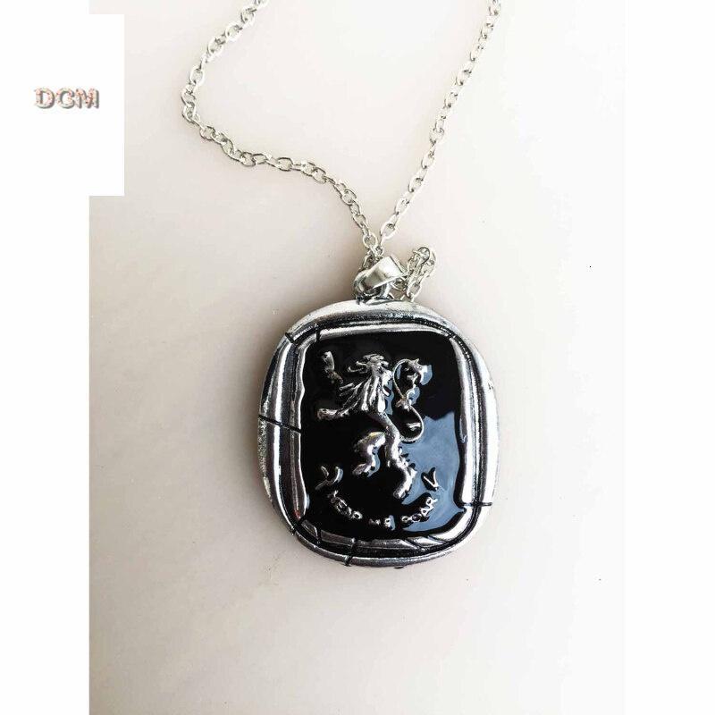 原单 冰与火之歌 权力游戏狼头徽章项饰 精品项链实物