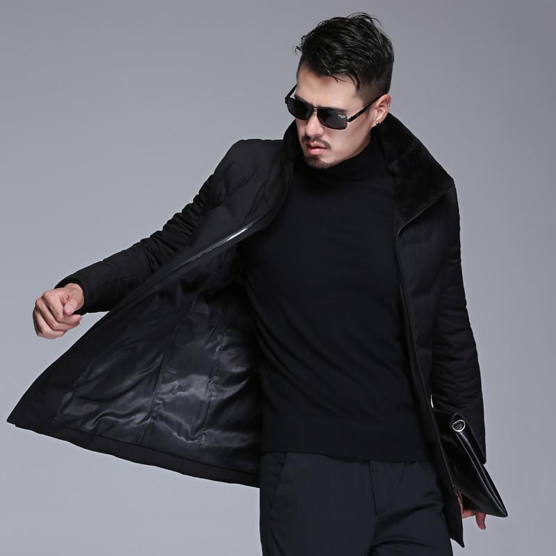 2018冬季新款加厚羽絨服休閑商務男士修身款衣服男毛領外套yr753圖片