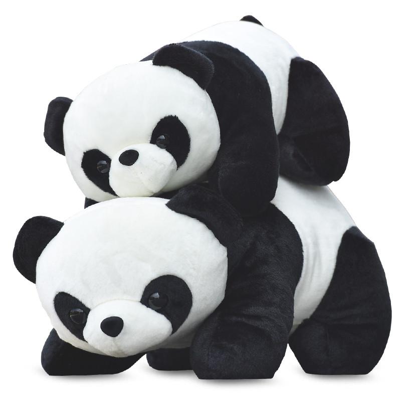 促销可爱大熊猫公仔抱抱熊布娃娃毛绒玩具 儿童抱睡抱枕玩偶礼物女生