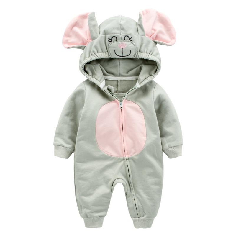 促销婴儿连体衣秋装男宝宝动物造型爬爬服女衣服新生儿哈衣外出服春秋