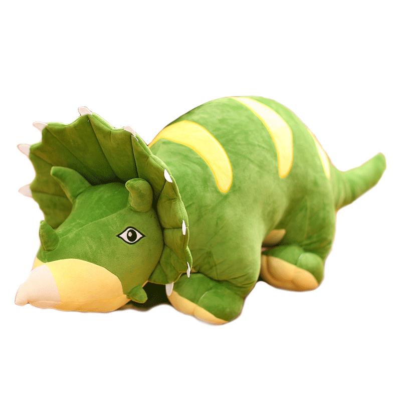 促销恐龙毛绒玩具公仔抱枕三角龙玩偶睡觉抱娃娃女生男孩可爱超萌儿童