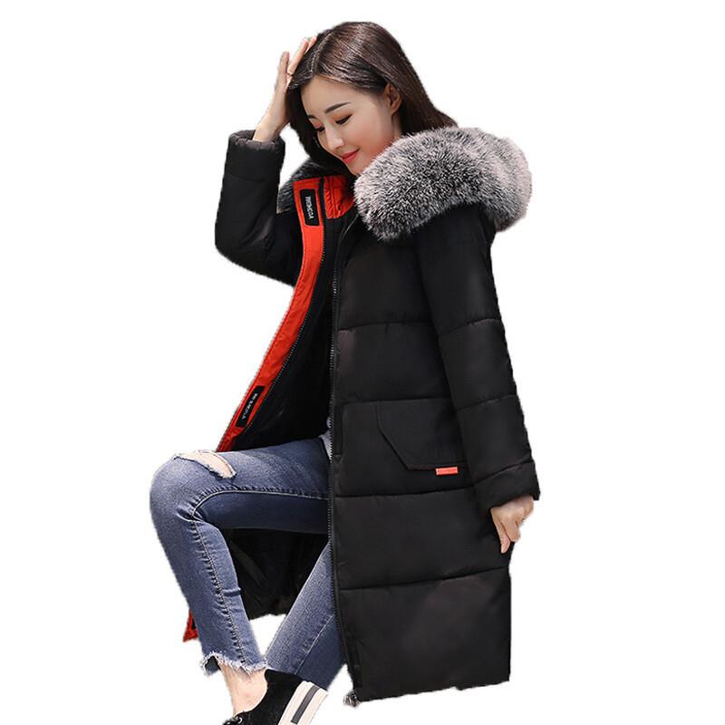 森马以纯冬季新款韩版大码女装时尚宽松连帽休闲优雅加厚中长款羽绒服图片