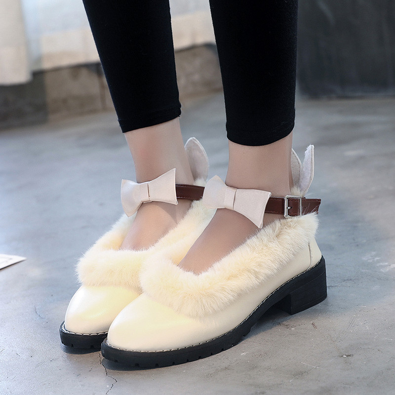 2017公主洛丽塔鞋子女学生可爱圆头文艺百搭中跟学院软妹小皮鞋女日系