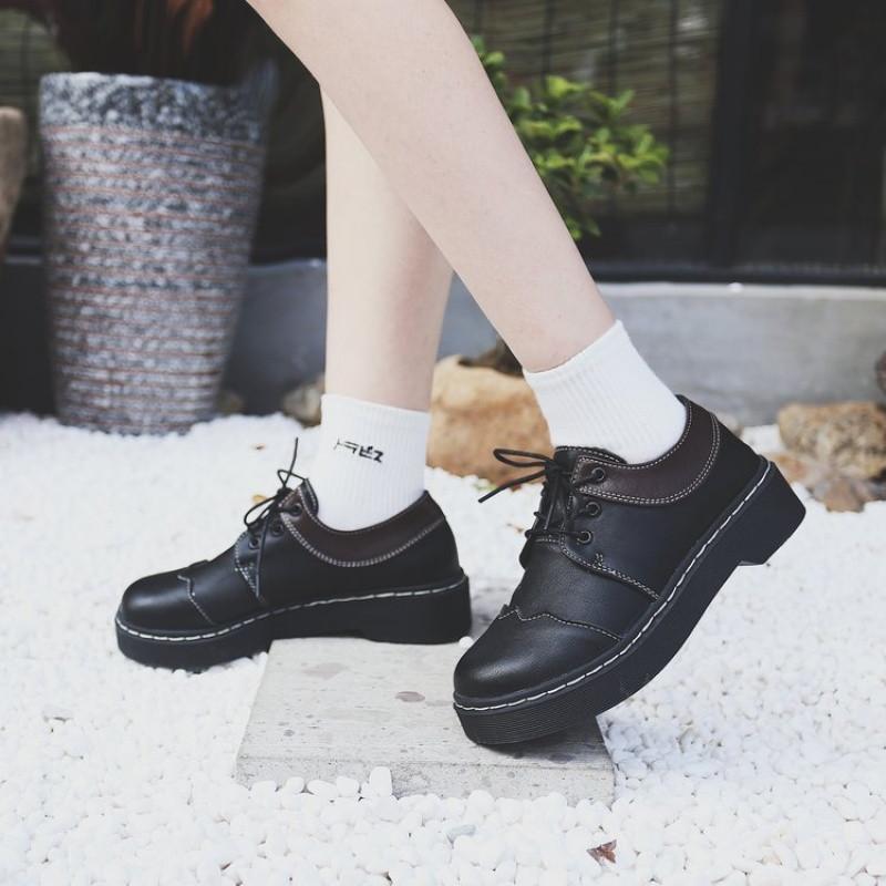 2018公主洛丽塔鞋子女学生可爱圆头单鞋百搭加绒学院软妹小皮鞋女日系