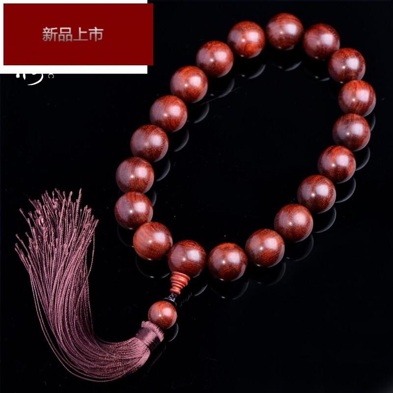 rimowa轻奢印度赞比亚小叶紫檀手持18颗佛珠手串血檀金星老料男女挂件图片