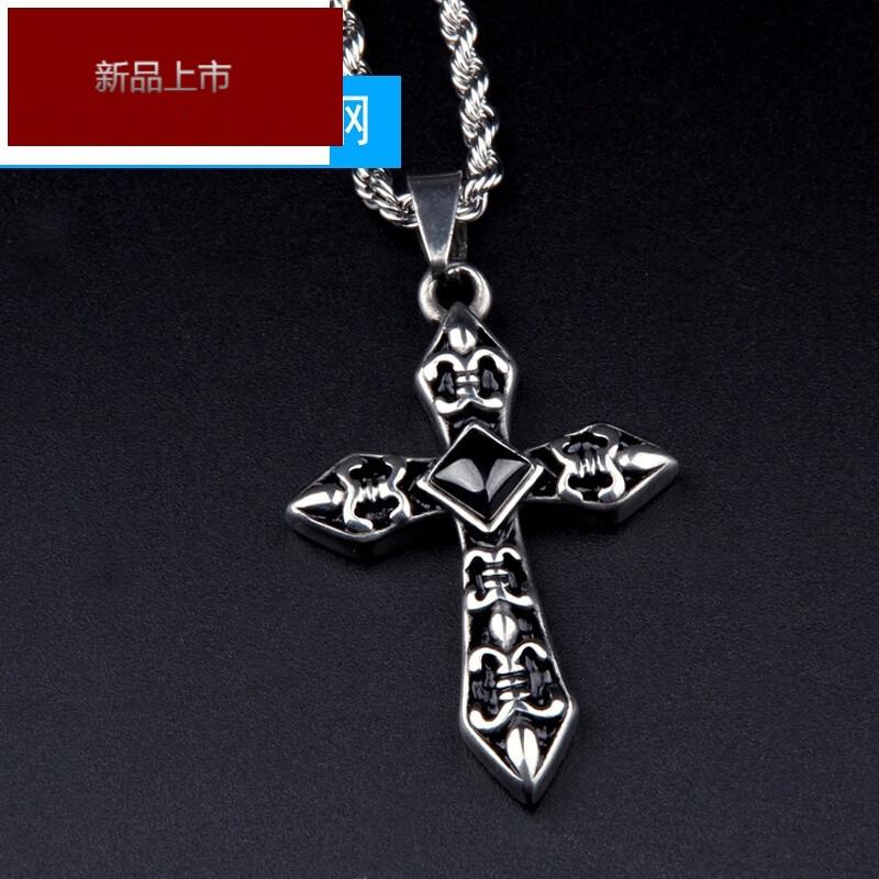 rimowa轻奢十字架项链男士钛钢项链韩版时尚复古吊坠潮男饰品配饰
