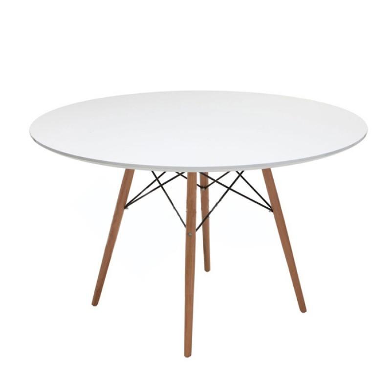 北欧设计师西餐桌现代简约伊姆斯桌椅组合咖啡奶茶圆桌书桌写字台