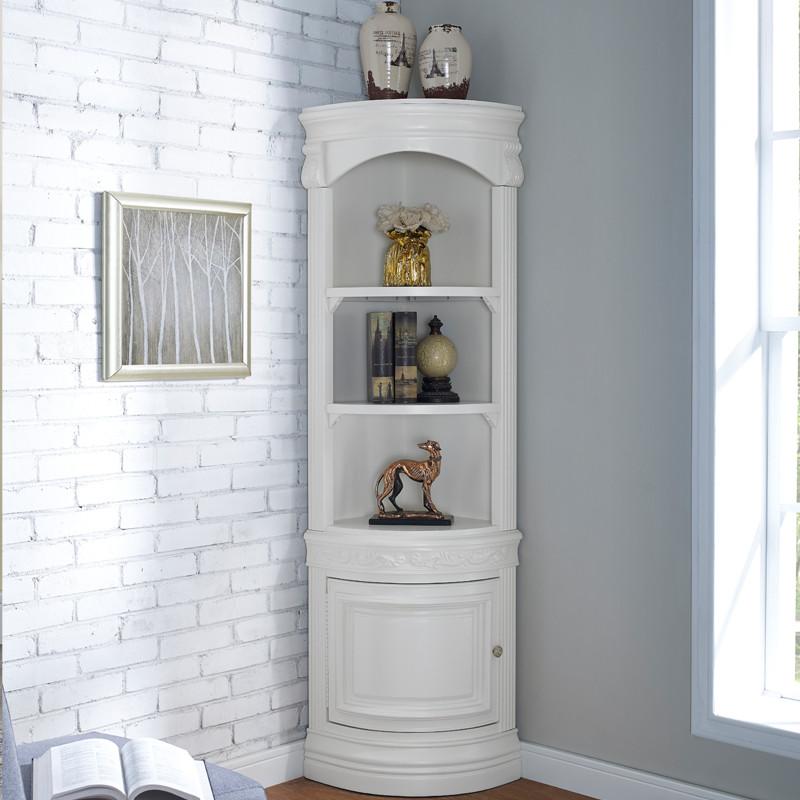 美式实木角柜欧式三角柜酒柜客厅墙角展示柜角落柜储物收纳柜102