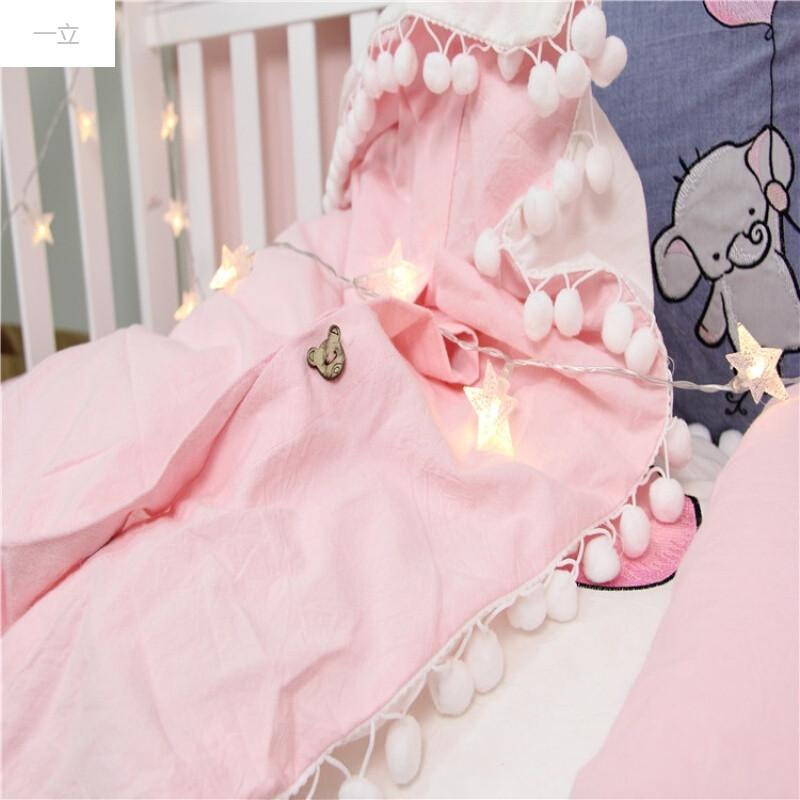 一立ins可爱儿童婴儿床套件宝宝幼儿园纯棉三件套水洗