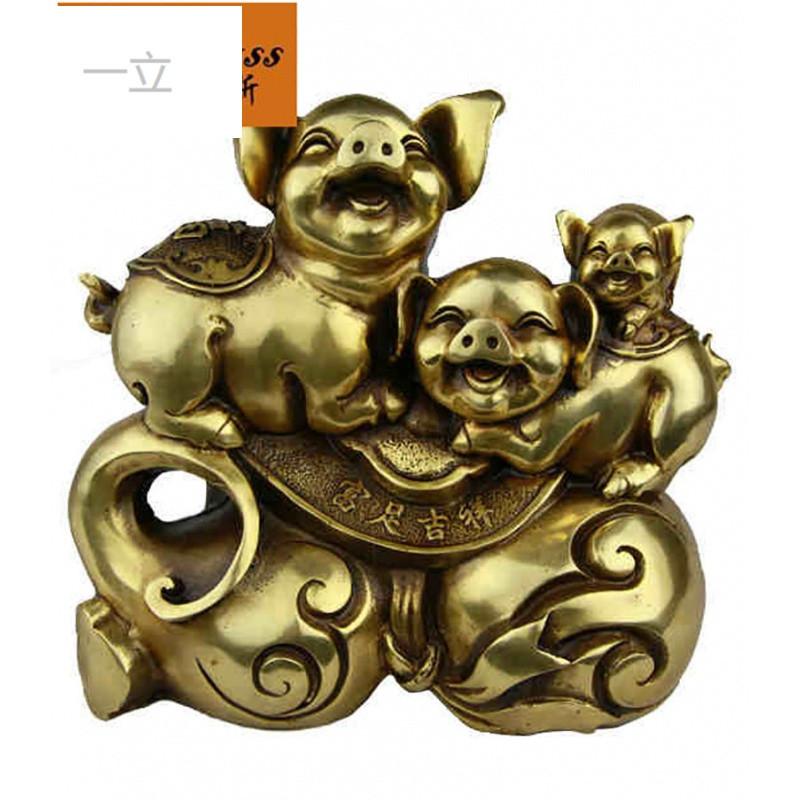 一立创意仿古铜猪福禄生肖猪福猪摆件家居商务送礼工艺品摆件