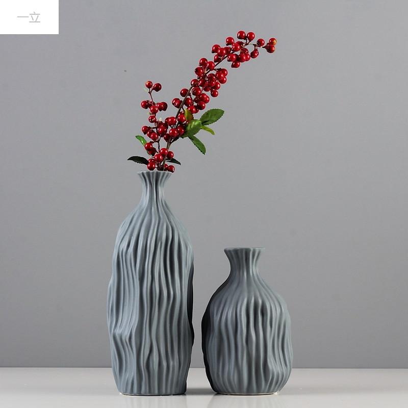 一立新款特价现代简约北欧家居插花花瓶装饰品摆件欧式创意客厅白色图片
