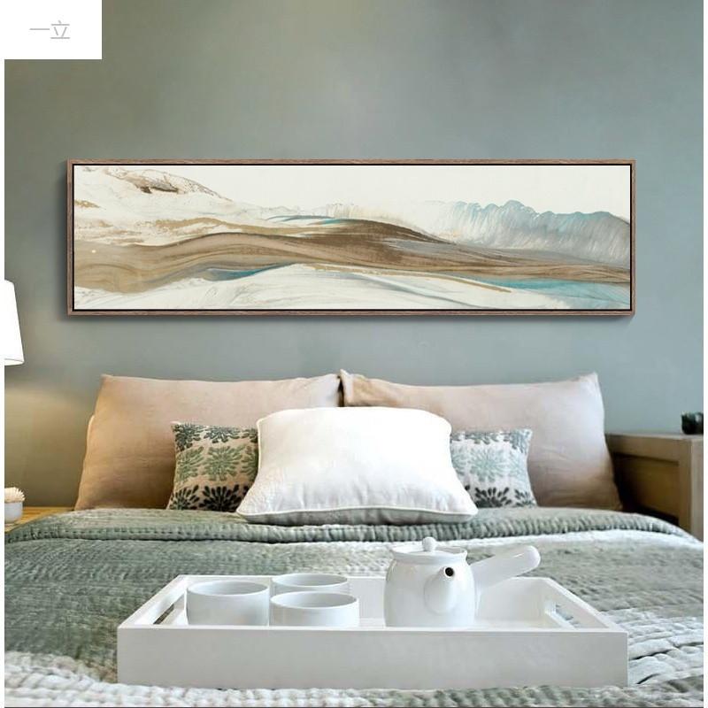 一立新款特价卧室装饰画床头长幅新中式抽象写意挂画温馨欧式风景墙上