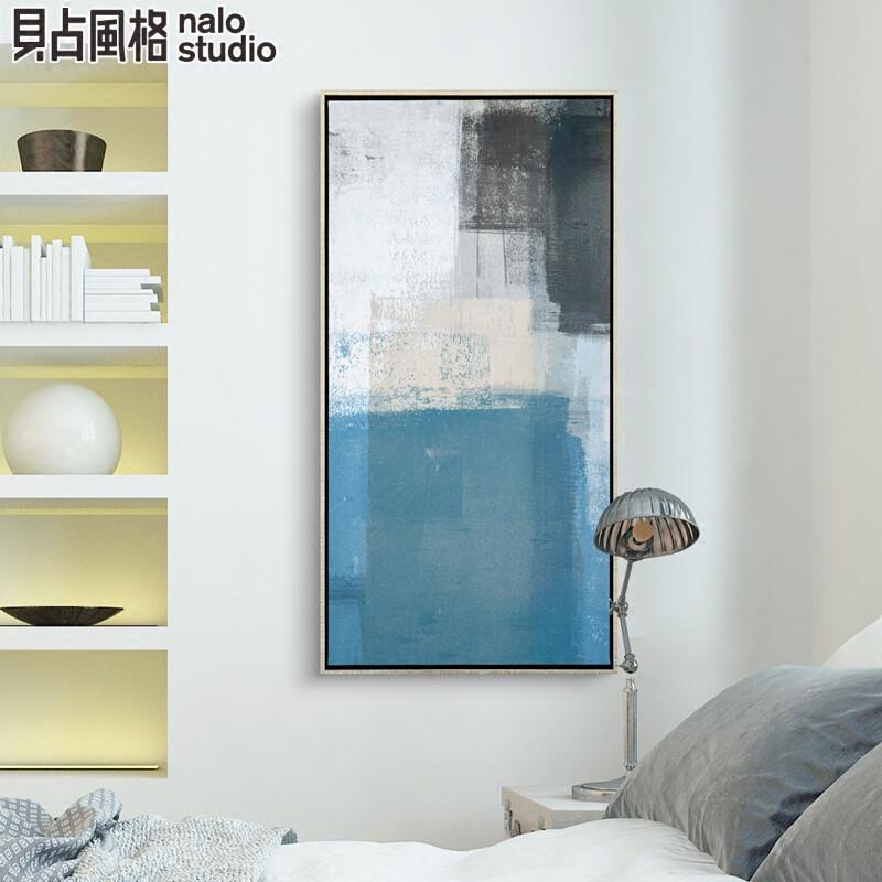 色彩密码现代简约抽象油画玄关装饰画挂画壁画竖版过道走廊客厅