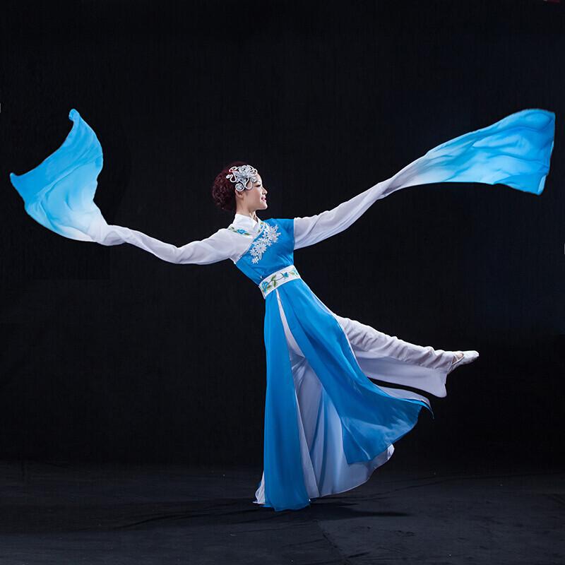 惊鸿舞水袖舞表演服古典舞服装女演出服古装汉服舞蹈图片