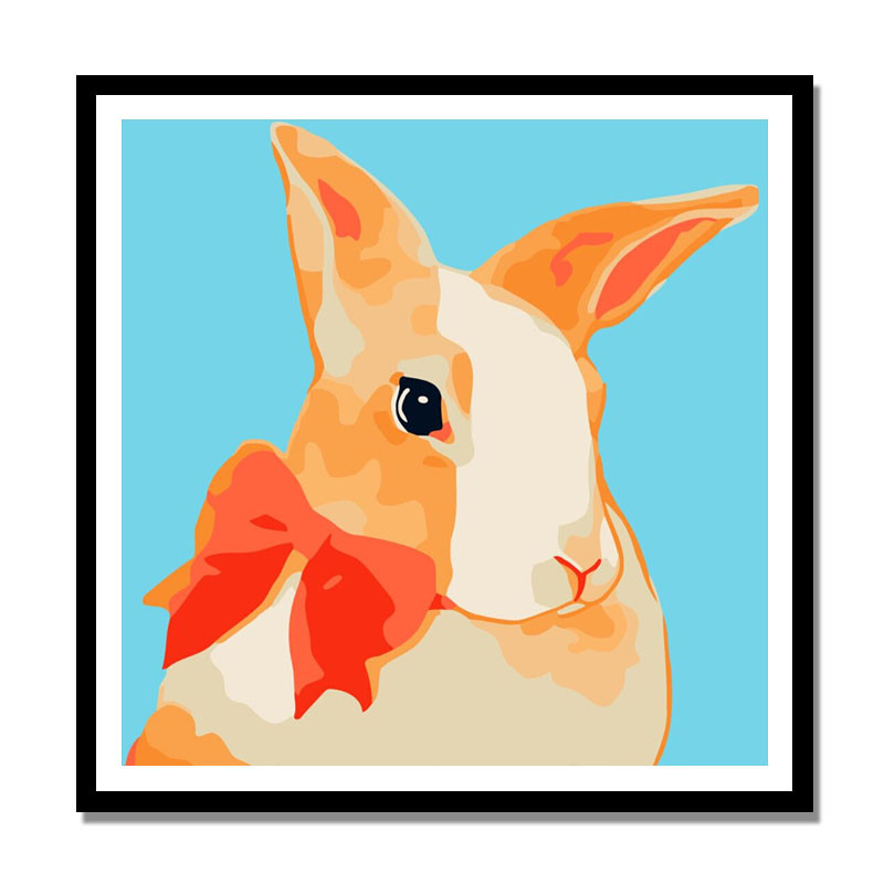 diy数字油画 风景植物花卉手绘油彩装饰画 动漫卡通动物