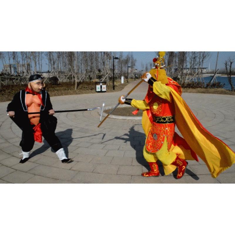 西游记猪八戒面具表演服装演出服装道具猪脸头套成人全套背媳妇