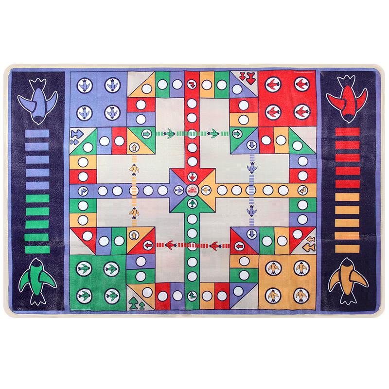儿童大富翁游戏棋地毯垫游戏毯双面飞行棋成号学生