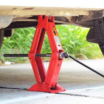 汽車千斤頂手搖式小轎車用小車換胎專用工具阿斯卡利車載液壓搖桿臥式2噸ASCARI 紅色2噸