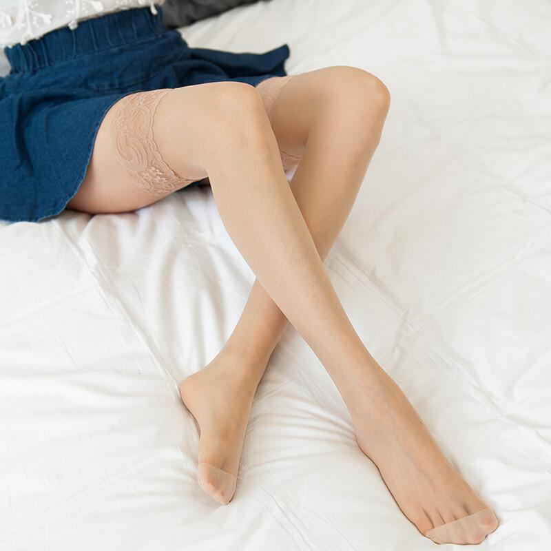 (2双装)粉色过膝袜女长筒袜薄情趣性感性感蕾丝高筒黑丝防勾丝y;欧美2大腿丝袜情趣图片