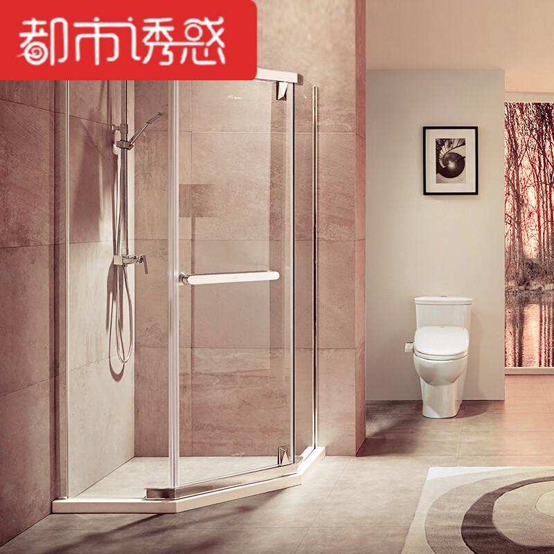 定制钻石型淋浴房304不锈钢整体浴室简易洗澡间浴室屏风隔断定制8mm