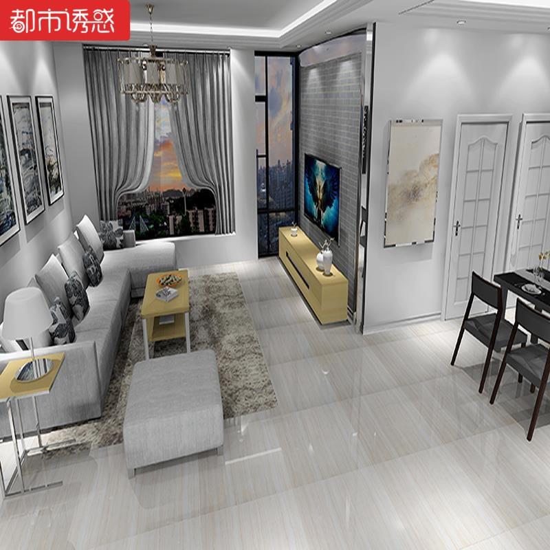 瓷砖灰木纹抛釉地砖800x800客厅卧室防滑大理石地板砖