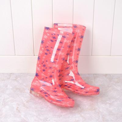 果冻雨鞋女高筒防滑耐磨雨靴加绒中高筒防水鞋女保暖学生雨鞋