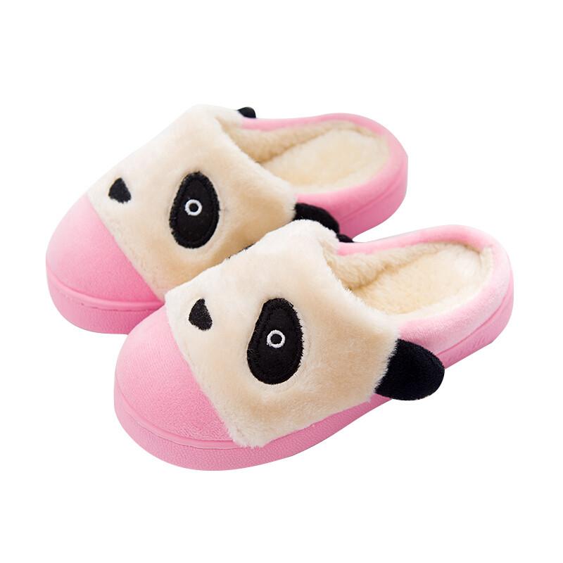 畅印儿童棉拖鞋居家居男女童卡通熊猫可爱室内防滑冬天小孩棉拖鞋保暖
