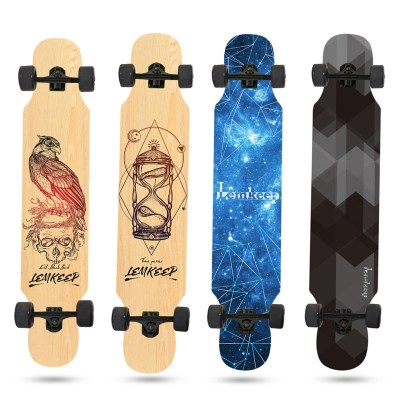 losenka 洛森卡四輪滑板長板青少年初學者刷街成人兒童通用4輪專業雙翹板滑8層楓木板300