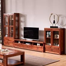 悠質家 現代中式實木電視柜客廳地柜海棠木組合矮柜子家具h801圖片