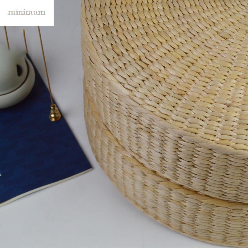 打坐禅修垫榻榻米坐垫加厚日式圆形蒲草编织跪拜瑜伽地板