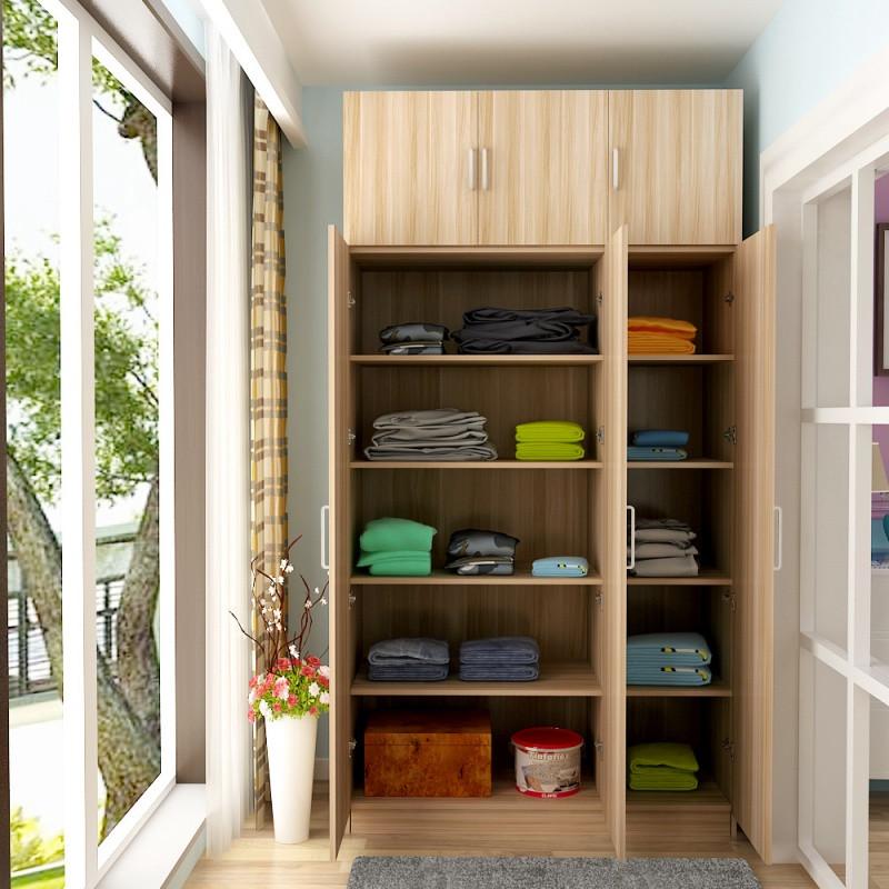 防晒阳台柜经济型定制储物柜大容量衣柜带门板式简约实木质鞋柜子图片