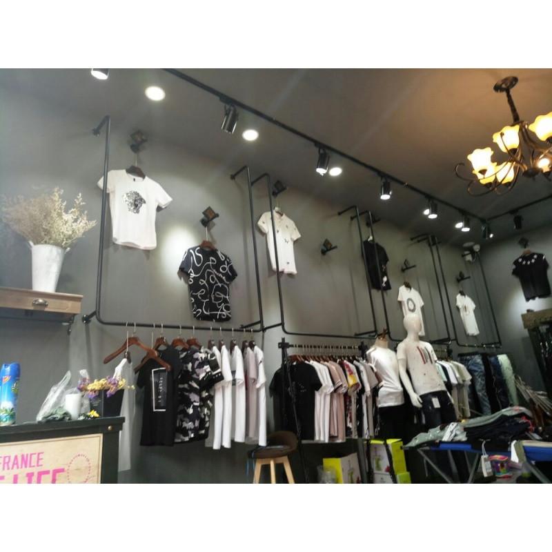 服装店衣架展示架铁艺服装货架上墙男女童装店挂衣服架壁挂吊架