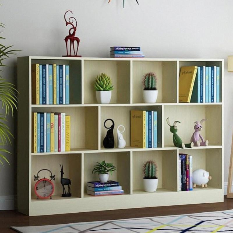 简易家用书架置物架儿童书柜学生收纳柜自由组合隔板学校教室书柜
