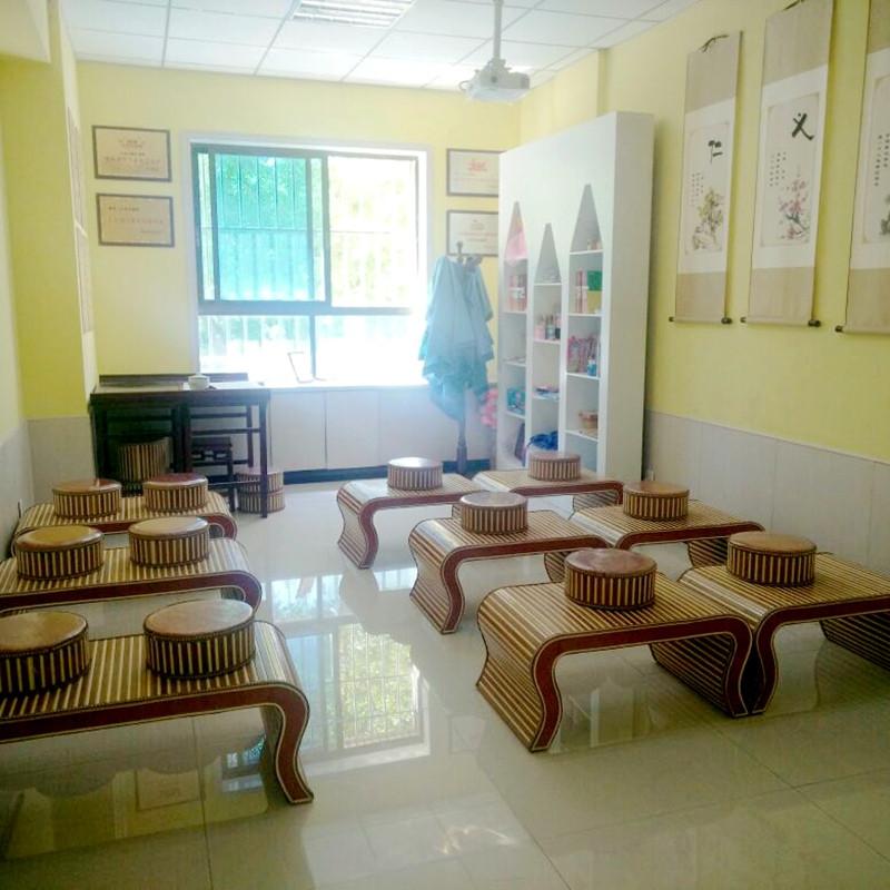 简约仿古孔孟幼儿园小榻榻米茶几飘窗国学桌椅组合围棋棋盘矮桌子