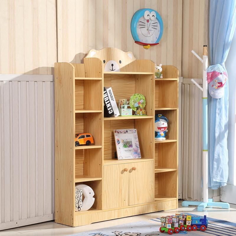 儿童书架书柜学生书架儿童书柜简易书架置物架书橱书架收纳储物柜图片