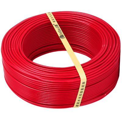 電線電纜 BV4平方國標家用空調用銅芯電線單芯單股銅線100米