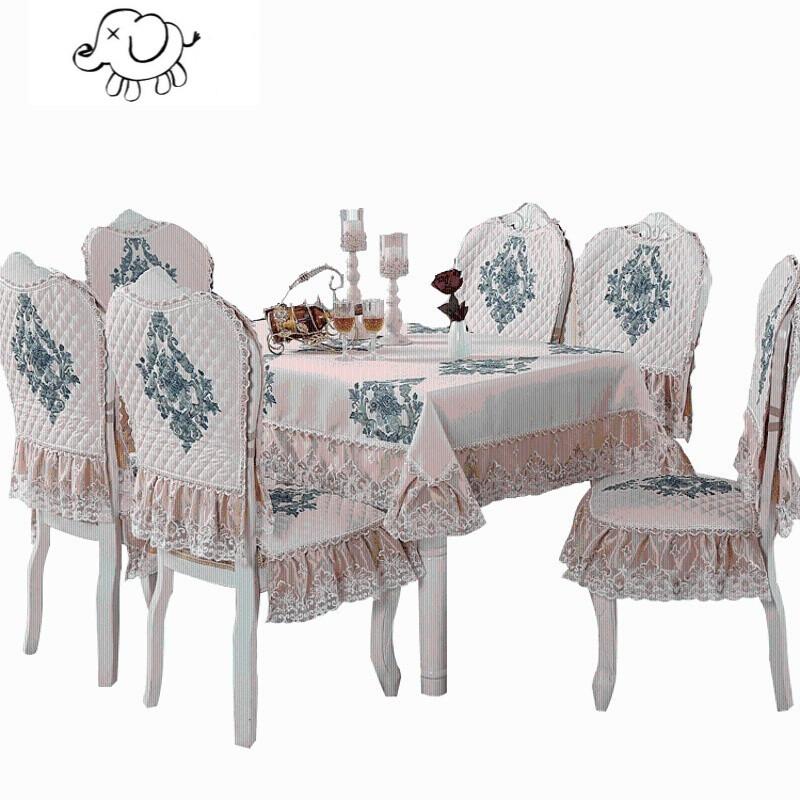 牧马人餐椅垫餐桌布艺套装椅子坐垫靠背餐座椅套两件套家用长方形台布图片