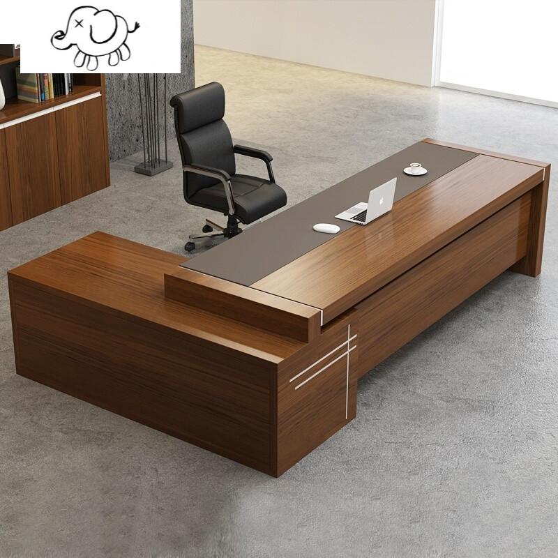牧马人办公家具时尚板式老板桌总裁大班台现代简约经理主管办公桌图片