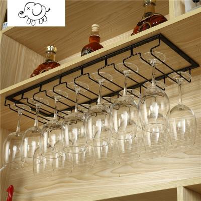 牧马人红酒杯架家用酒柜高脚杯架倒挂红酒杯的架子酒杯架悬挂红酒架摆件