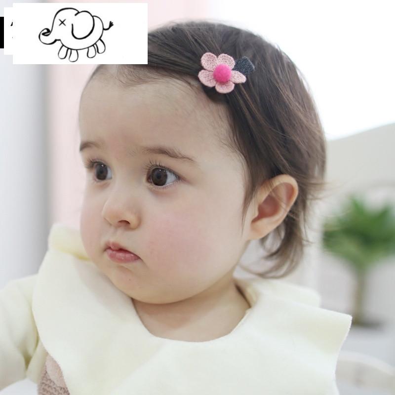 宝宝发夹头饰公主小童发夹婴儿包布安全夹子刘海发卡婴儿用品图片