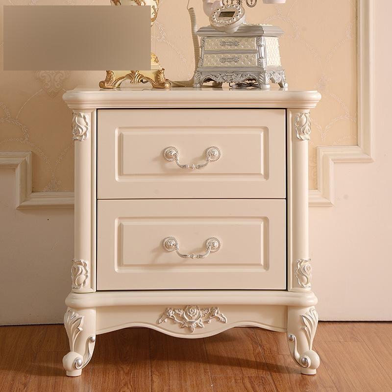 法式浪漫床头柜 实木抽屉储物柜 欧式床头柜 图片 整装图片